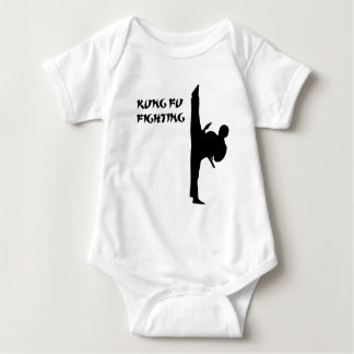 Kung Fu Front Kick Baby Bodysuit
