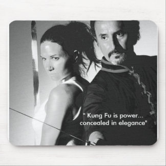 """ Kung Fu is power...conceale... Mouse Pad"