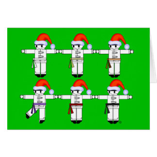 Kung Fu Kickers Holday Christmas Cards