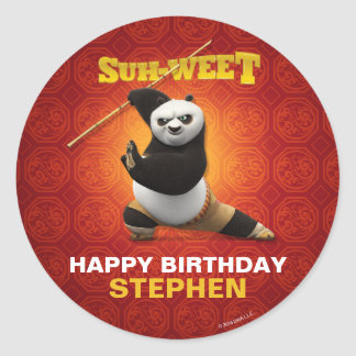 Kung Fu Panda | Po Warrior Birthday Classic Round Sticker