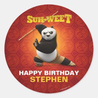 Kung Fu Panda | Po Warrior Birthday Round Sticker