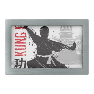 Kung Fu Rectangular Belt Buckle