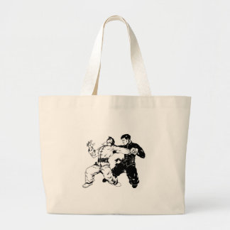 KUNG FU SWEEP LARGE TOTE BAG