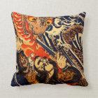 Kuniyoshi Hanagami Danjo no jo Arakage Throw Pillow