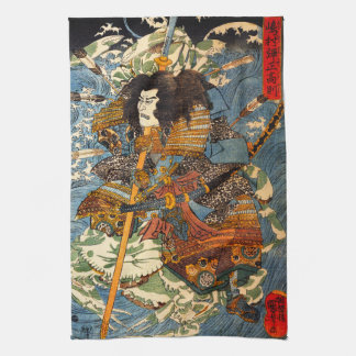 Kuniyoshi Samurai Kitchen Towel
