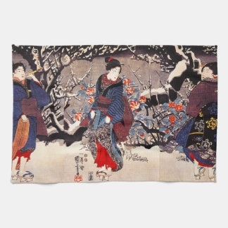 Kuniyoshi Three Women Kitchen Towel