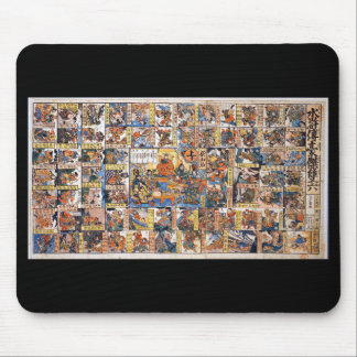 Kuniyoshi UTAGAWA, 'water 滸 transmission heroic Mouse Pad