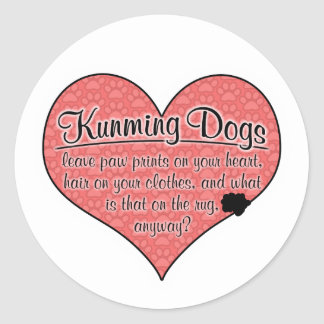 Kunming Dog Paw Prints Humor Stickers
