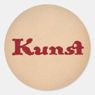 Kunst in Red Classic Round Sticker