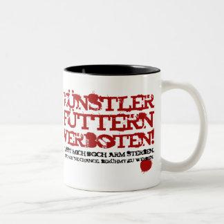 Künstler füttern verboten! Two-Tone coffee mug