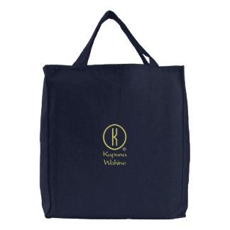 Kupuna Wahine's Embroidered Tote Bags