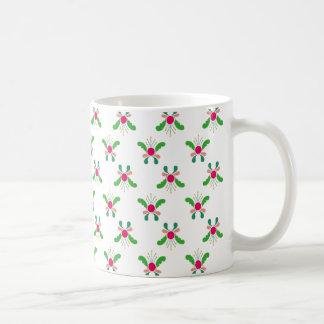 Kurbits - Mug - Pink Green kurbits flowers