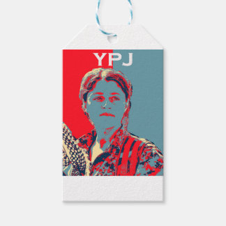 Kurdish Female YPG Fighter art 2 Gift Tags