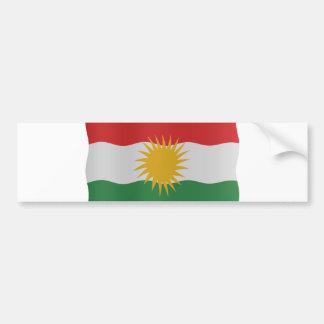 Kurdish flag bumper sticker