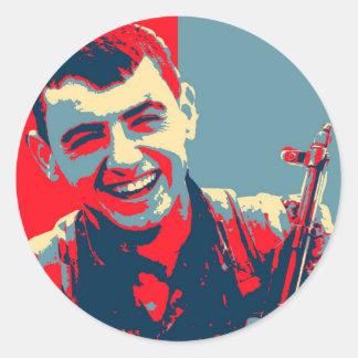 Kurdish YPG Fighter 2 art Classic Round Sticker