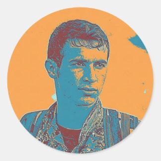 Kurdish YPG Fighter art Classic Round Sticker
