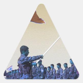 Kurdish YPG - YPJ Figters of Rojava Kurdistan 3.jp Triangle Sticker