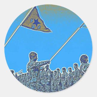 Kurdish YPG - YPJ Figters of Rojava Kurdistan Post Classic Round Sticker