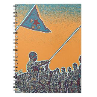 Kurdish YPG - YPJ Figters of Rojava Kurdistan Post Notebooks