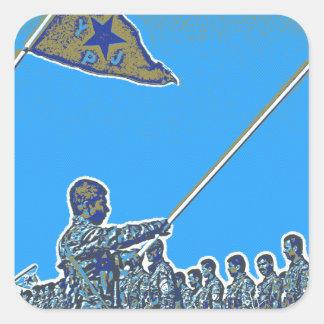 Kurdish YPG - YPJ Figters of Rojava Kurdistan Post Square Sticker