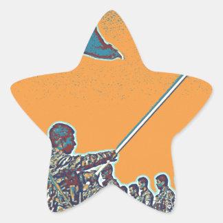 Kurdish YPG - YPJ Figters of Rojava Kurdistan Post Star Sticker