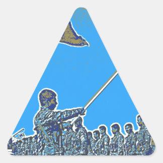 Kurdish YPG - YPJ Figters of Rojava Kurdistan Post Triangle Sticker