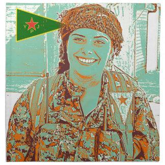 Kurdish YPJ Fighter 2 art Napkin