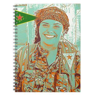 Kurdish YPJ Fighter 2 art Notebooks