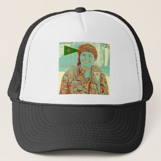 Kurdish YPJ Fighter 2 art Trucker Hat