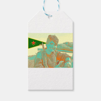 Kurdish YPJ Fighter 3 art 2 Gift Tags