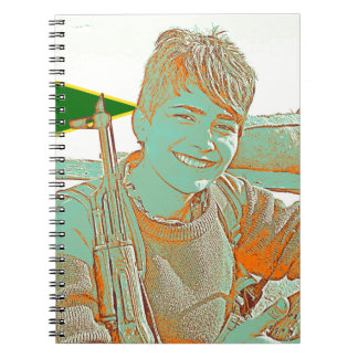 Kurdish YPJ Fighter 3 art 2 Spiral Notebook