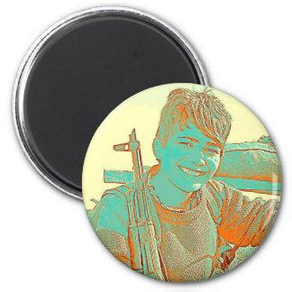 Kurdish YPJ Fighter 3 art Magnet