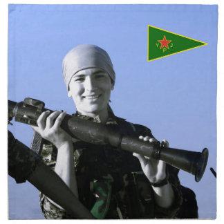 Kurdish YPJ Fighter 4 art Napkin