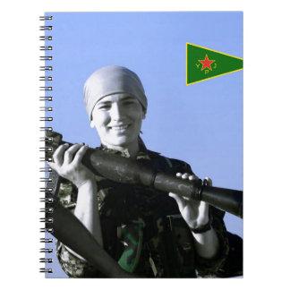 Kurdish YPJ Fighter 4 art Notebook