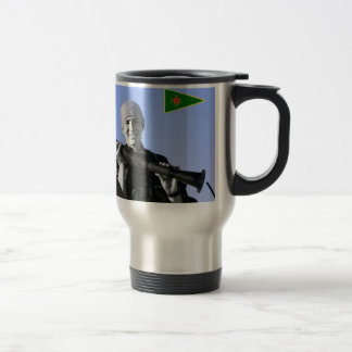 Kurdish YPJ Fighter 4 art Travel Mug