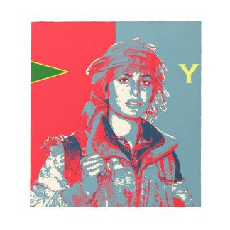 Kurdish YPJ Fighter art 2 Notepad