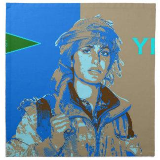 Kurdish YPJ Fighter art 3 Napkin