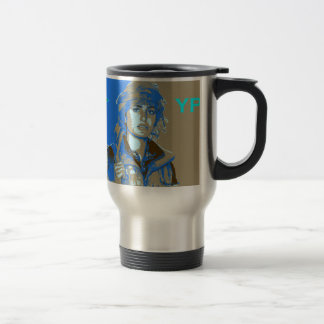 Kurdish YPJ Fighter art 3 Travel Mug
