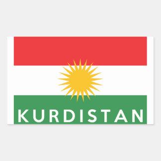 kurdistan country flag symbol name text sticker