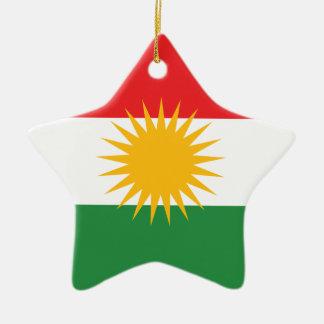 Kurdistan Flag Ceramic Star Ornament