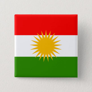 Kurdistan High quality Flag 2 Inch Square Button