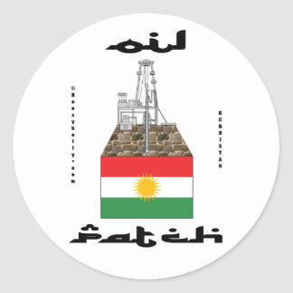 Kurdistan Oil Fields,Oil Field Sticker,Oil,Gas,Rig Classic Round Sticker