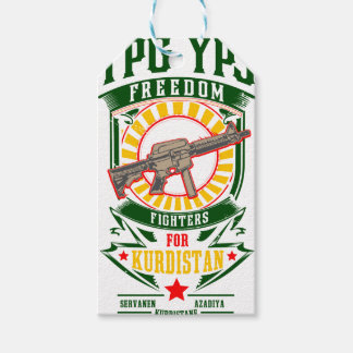 KURDISTAN - YPG - YPJ Freedom Warrior Gift Tags