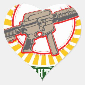 KURDISTAN - YPG - YPJ Freedom Warrior Heart Sticker