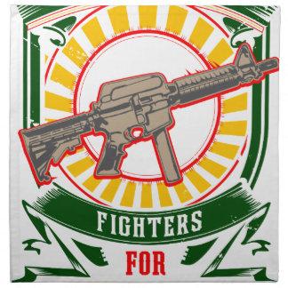 KURDISTAN - YPG - YPJ Freedom Warrior Napkin