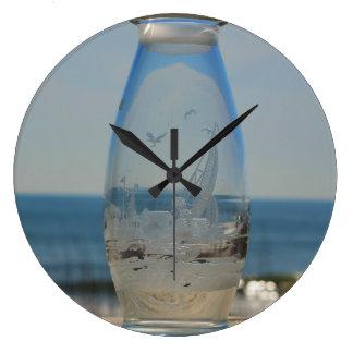 """Kure Beach in a Bottle"" Wall Clock"