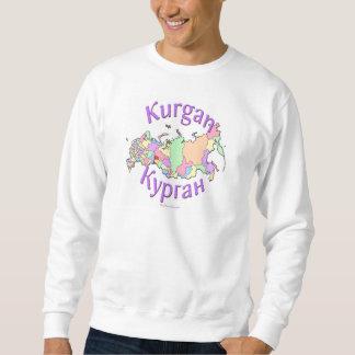 Kurgan City Russia Map Sweatshirt