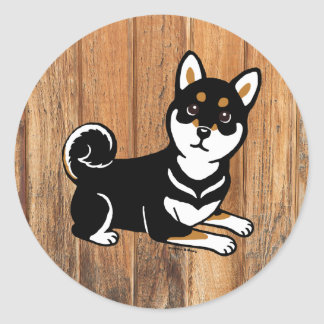 Kuro Shiba Inu dog cartoon Sticker
