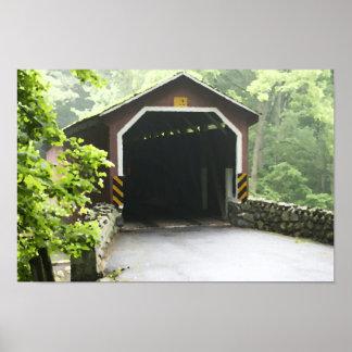 Kurtz Mill Wooden Covered Bridge Lancaster Penn Poster