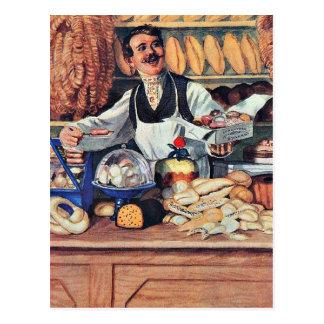 Kustodiev - Baker Postcard